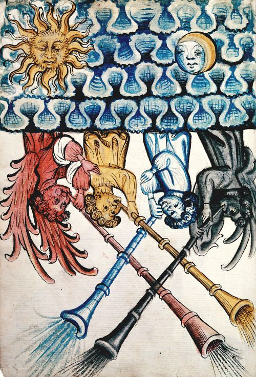 our winds  Konrad Kyeser, Bellifortis, Germany 15th century  Besançon, Bibliothèque municipale, ms. 1360, fol. 4v