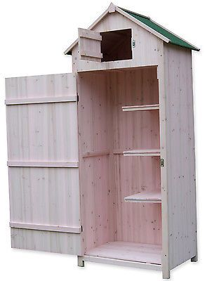 Woodside Wooden Sentry Box Outdoor Garden Storage Cupboard Tool Shed
