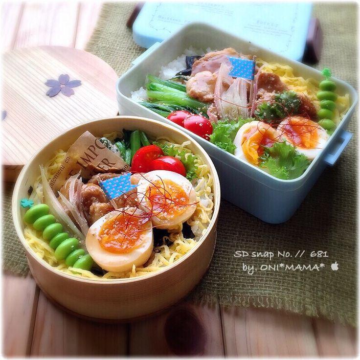 豚角煮丼のお弁当 by ONI*MAMA* at 2015-07-08