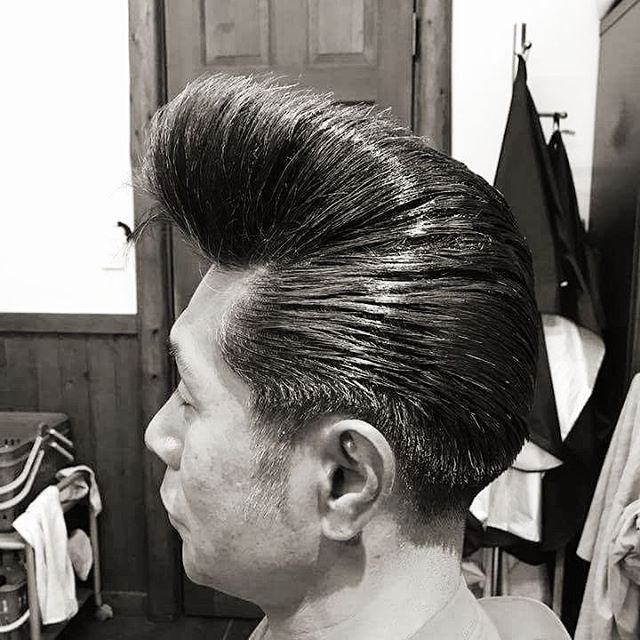 Epic Greaser Biker Hairstyles Ideas from a Barber ... |Elephant Trunk Pompadour
