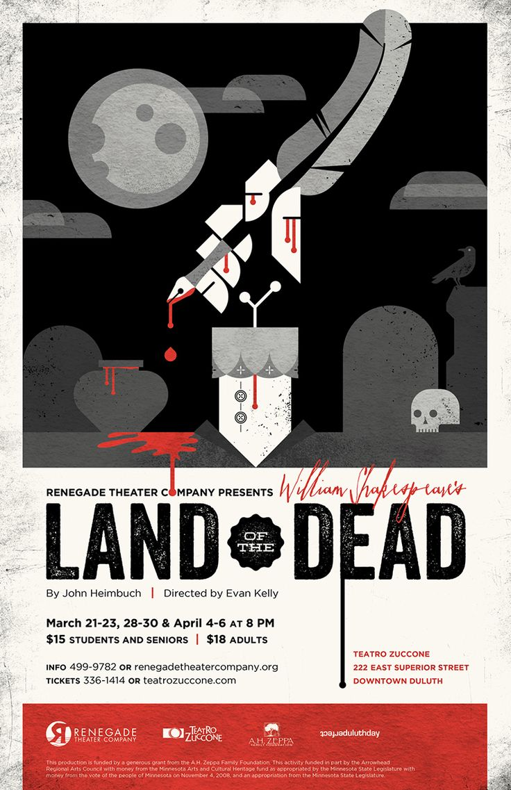 Poster design company -  William Shakespeare S Land Of The Dead Theater Poster Design For Renegade Theater Company In
