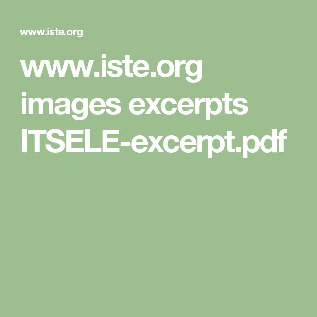 www.iste.org images excerpts ITSELE-excerpt.pdf