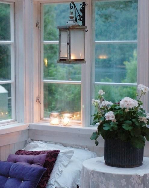 summer evenings + indoor porch