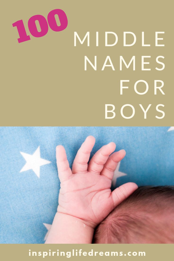 100 Cool & Unique MIDDLE NAMES For Boys (That Are Just ...