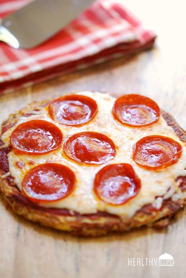 Baja en carbohidratos Corteza de la pizza hecha con Fideos Shirataki