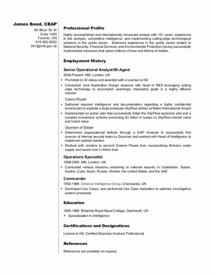 25 Entry Level Business Analyst Resume in 2020 (With