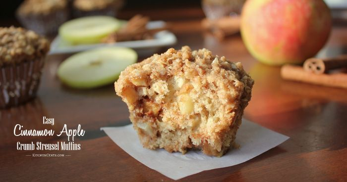 Easy Cinnamon Apple Crumb Streusel Muffins   Kitchen Cents