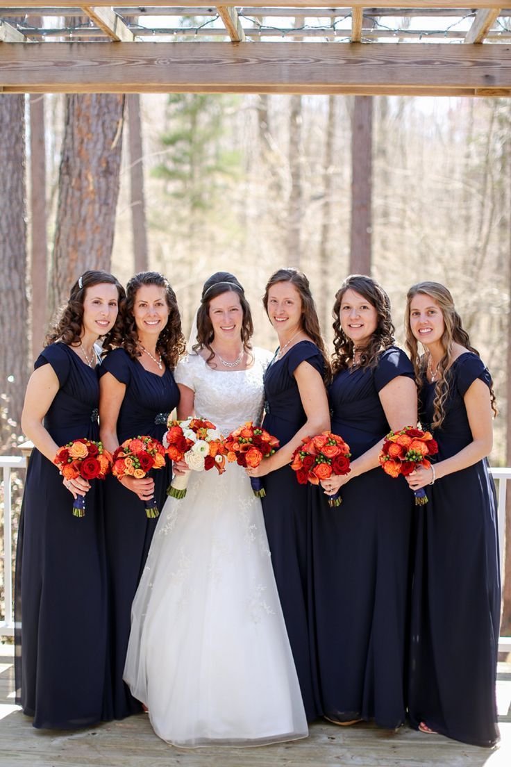 501 best modest bridal gowns images on pinterest wedding real bride julie and bridesmaids all wearing modest dresses from latterdaybride oquirrh mountain temple ombrellifo Choice Image