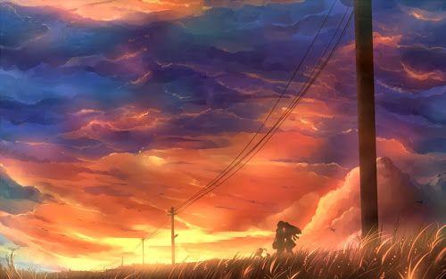 Sunset Kiss Anime Romantic Wallpaper by Kazeno Mangaka ...