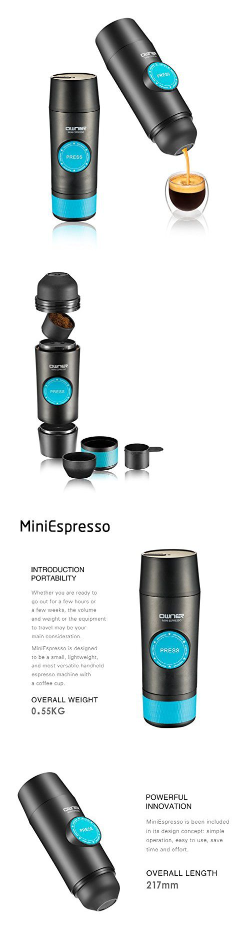 Other Coffee and Tea Makers 159902: Portable Coffee Maker Owner Mini Electric Espresso Machine For Home Office Trave -> BUY IT NOW ONLY: $82.46 on eBay!