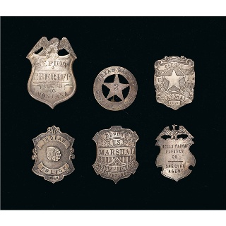 Badges of Law Enforcement in Texas. there used to be this old couple who sold badges like these at my neighborhood flea market for around 10 bucks. Still think I should have bought them.
