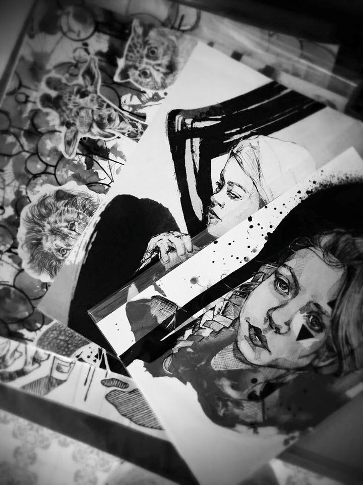Marie-Eve Arpin - Art https://www.facebook.com/MarieEveArpinArt Drawing Dessin Portrait Art Illustration 2015.