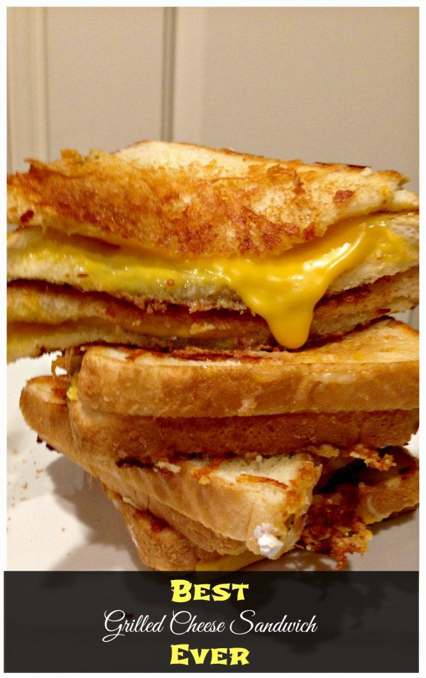 Grilled Cheese Sandwich with a secret ingredient! Man, this was GOOOOOD!!! #easyrecipes #PinOfTheDay