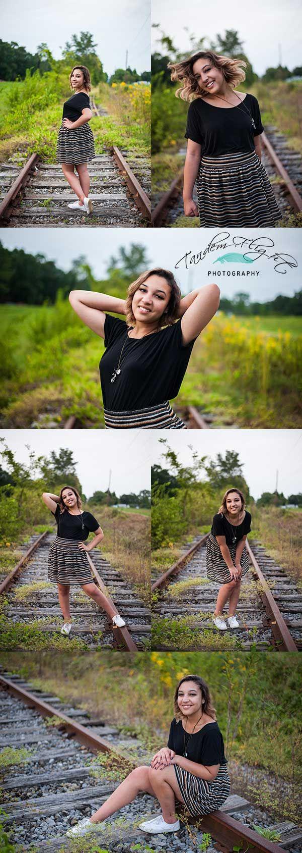 Senior on train tracks, senior picture ideas, senior picture poses, senior, senior poses, creative senior pictures
