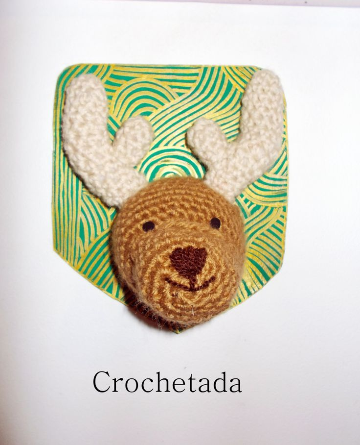 Crochet Reindeer Trophy
