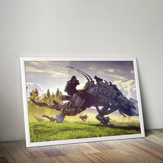 Horizon Zero Dawn Inspired Poster Print | Digital Download | Printable | Poster | Wall Art | Video Game Art | A2 SizeGamer Gift, Boyfriend Gift