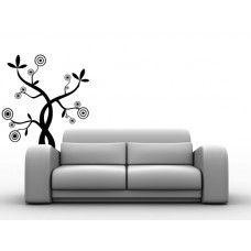 Vinilos decorativos | Árbol con círculos y hojas -Vinilos Decorativos DF