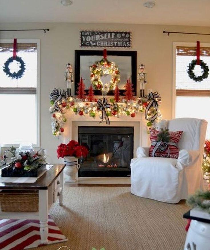 60 Stunning Christmas Mantel Decorating Ideas on