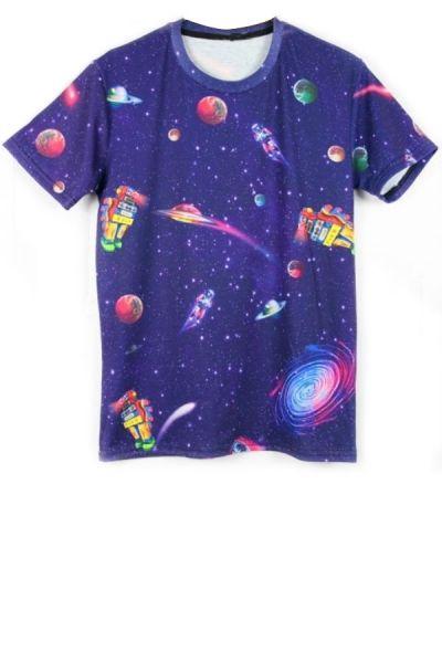 Pastel Galaxy Shirt Galaxy Crop Top Original Print Space T-Shirt Universe oWKQvn5j