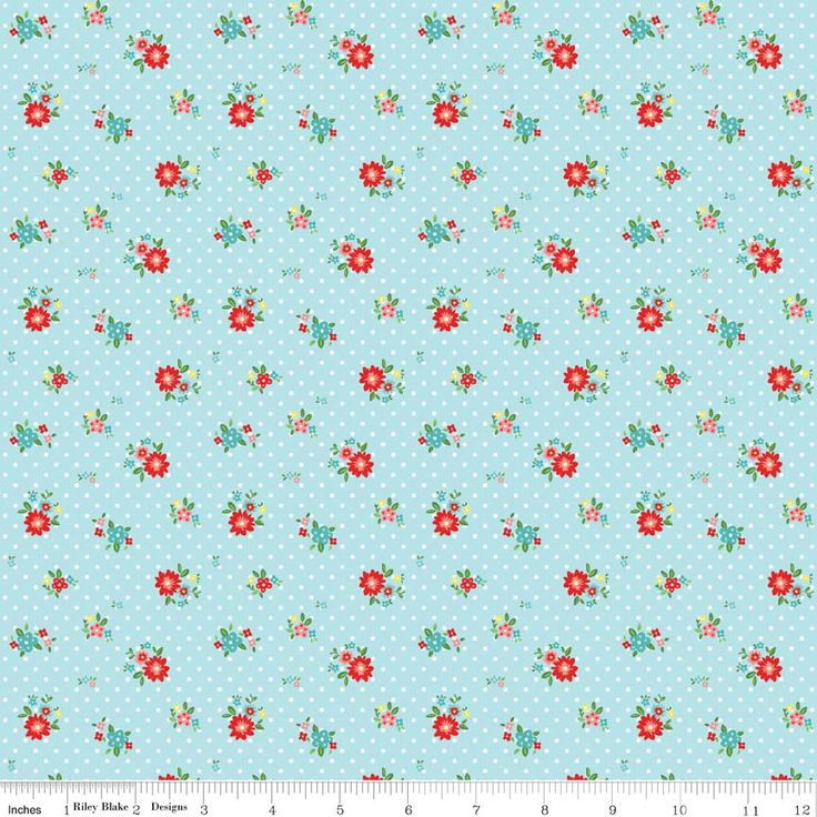 THE SIMPLE LIFE by Tasha Noel for Riley Blake, Floral in Aqua