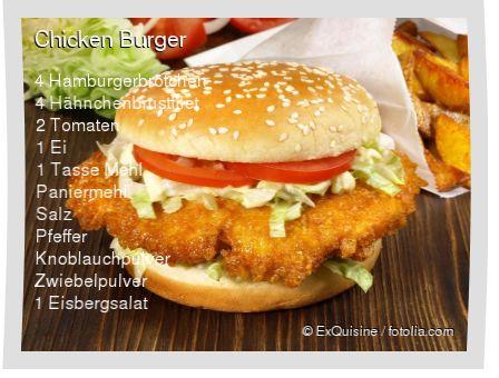 Leckeres Chicken Burger Rezept mit einfacher Schritt-für-Schritt-Anleitung: Ei verquirlen , Mehl mit Salz,Pfeffer, Zwiebelpulver und Knoblauchpulver misc...