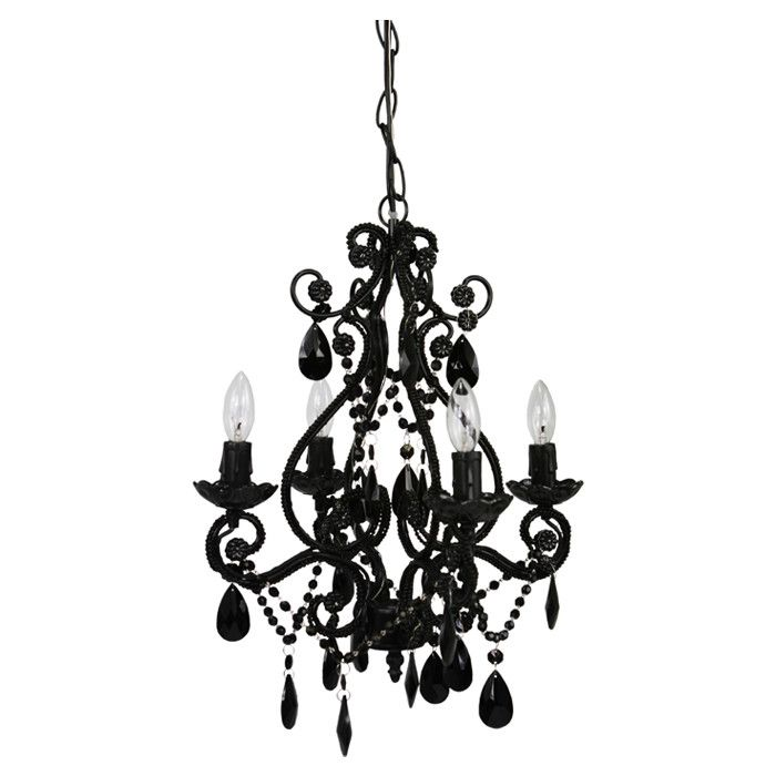 Buy Your 4 Light Black Onyx Mini Chandelier By Sleeping Partners Here.  Dress Up Your Little Girlu0027s Nursery Or Bedroom With The 4 Light Black Onyx  Mini ...