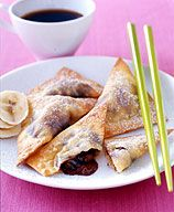 Weight watchers chocolate banana wontons from Dr Oz