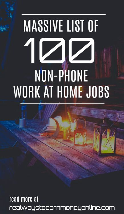 Looking for non-phone work at home job? Here's a huge list of 100 options.