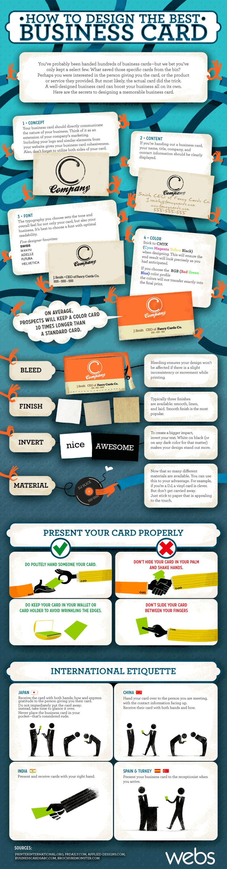 How To Design The Best Business Card | #Infographic via @BizITTrainingAZ