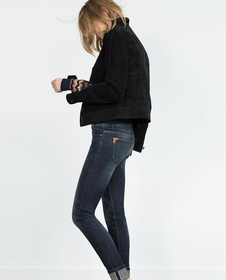 Image 2 of MID-RISE TURN-UP HEM JEANS from Zara