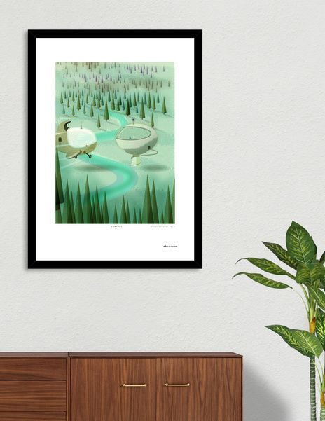 Discover «Contact A3», Limited Edition Fine Art Print by Dorus  Verwiel - From…