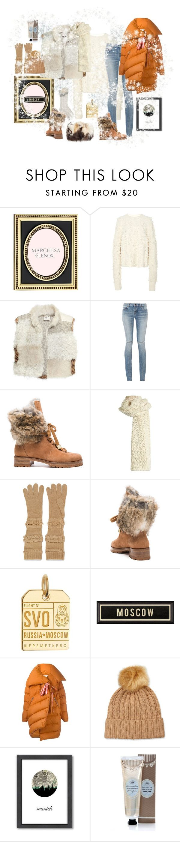 """Sooo Munich- the style of my hometown. The day we turned into Moscow☃"" by juliabachmann ❤ liked on Polyvore featuring Lenox, Ulla Johnson, Sea, New York, Yves Saint Laurent, Alexandre Birman, I Love Mr. Mittens, Agnona, Jet Set Candy, Marques'Almeida and Neiman Marcus"