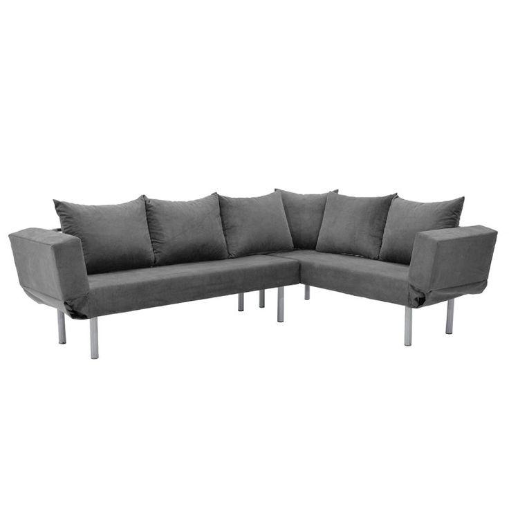 Γωνιακός καναπές Seul Corner με ύφασμα γκρι 233x170x85