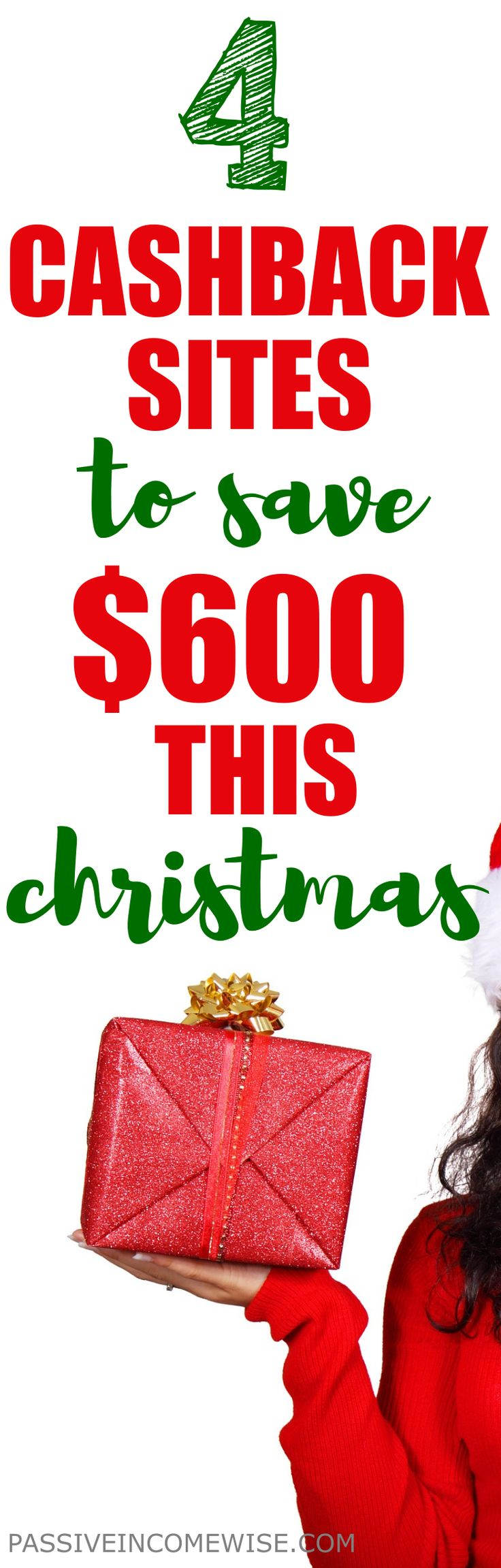 If you want to earn cash back when you shop for Christmas, I've included some sites I always use for my online purchases. You can use them too and start earning. Save money christmas, earn cashback, ebates, christmas gifts, how to save money, get money back