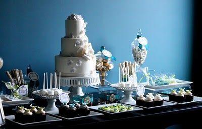 Dessert Table: Dessert Tables, Cakes Desserts, Wedding Desserts Tables, Sweet Tables, Couture Cakeri, Cakes Tables, Blue Desserts, Wedding Cakes, Desert Bar