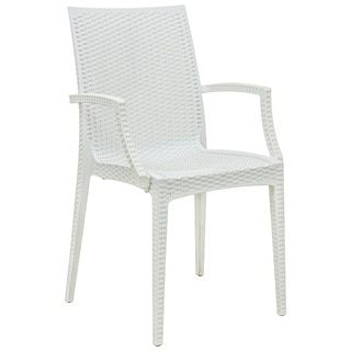 Shop for LeisureMod Mace Weave Wicker Design Indoor/ Outdoor White Dining Armchair. Get free shipping at Overstock.com - Your Online Furniture Outlet Store! Get 5% in rewards with Club O!