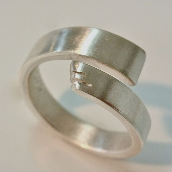 Sterling silver feather inspired band by ntm. jewellery