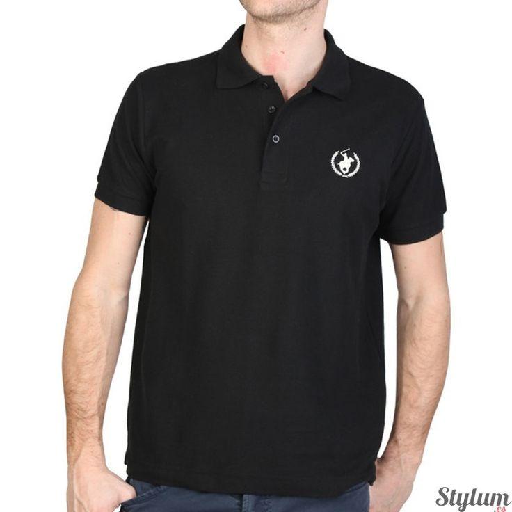 Elegante Polo Club hombre en color negro, ideal para la primavera, verano.  Manga