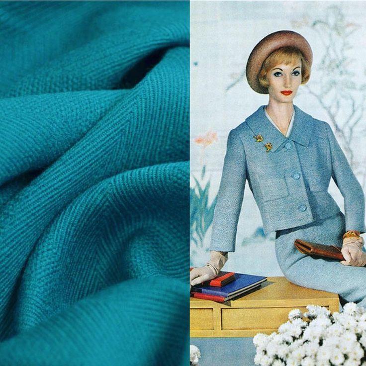 EN: New spring suit in the making! PL: Nowy wiosenny kostium się szyje!  #sewing #instasew #vintagesewing #jacket #skirt #suit #1950s #fashion #spring #wool #polyester #elanowełna #szycie #rękodzieło #materiał #kostium #żakiet #spódnica #wroclawszyje #lata50 #częsteszyciewydłużażycie