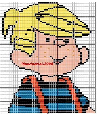 Dennis the Menace hama perler beads pattern by Mauricette