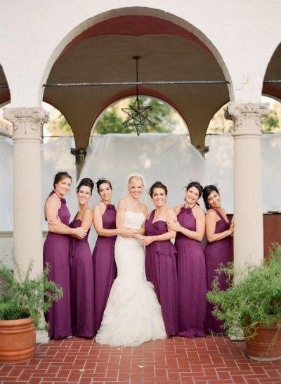 Elegant Boysenberry Wedding At The Villa Terrace Black