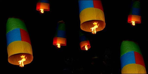 Hot-air Balloons Released at #Easter in #Leonidio #Greece