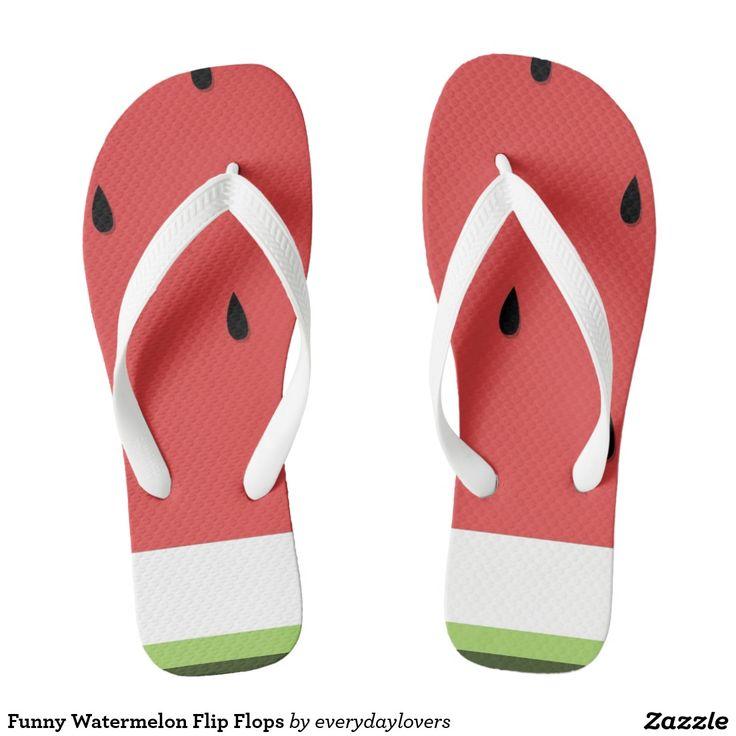 Funny Watermelon Flip Flops