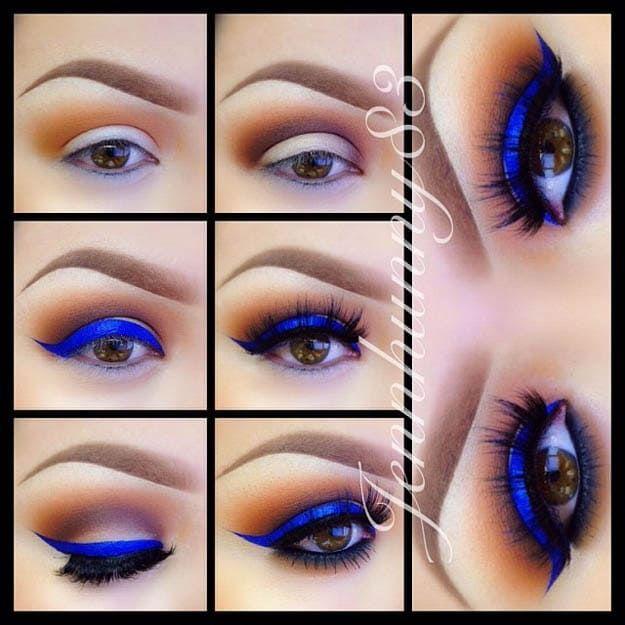 Electric Blue   Eyeshadow For Brown Eyes   Makeup Tutorials Guide