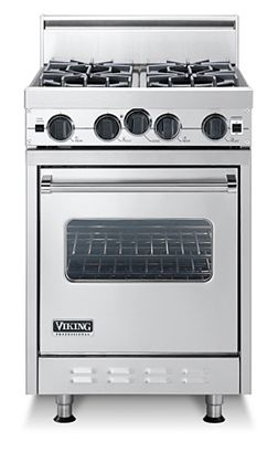 Classic 24 Inch Four Burner Gas Range - Viking Range Corporation -- For that maybe one day, hypothetical, loving the idea of it, tiny house.