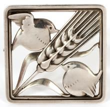 GEORG JENSEN STERLING BIRD PIN
