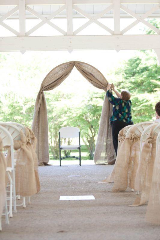 Nice Simple Burlap Arch And Aisle Stefani S Wedding