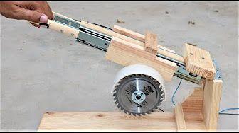 How to make a useful saw machine using power tools. #WoodworkingTools