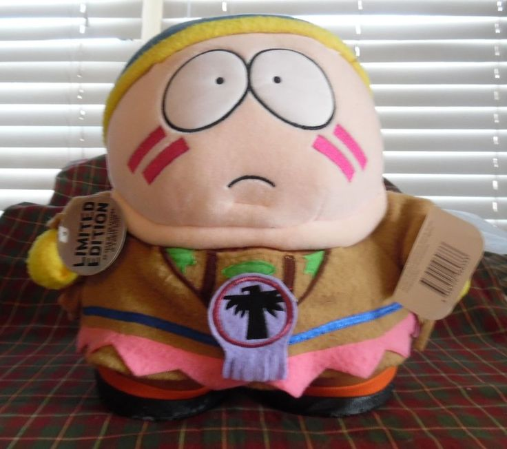"""1998 COMEDY CENTRAL SOUTH PARK 11"""" INDIAN CARTMAN USED PLUSH SOFT TOY  