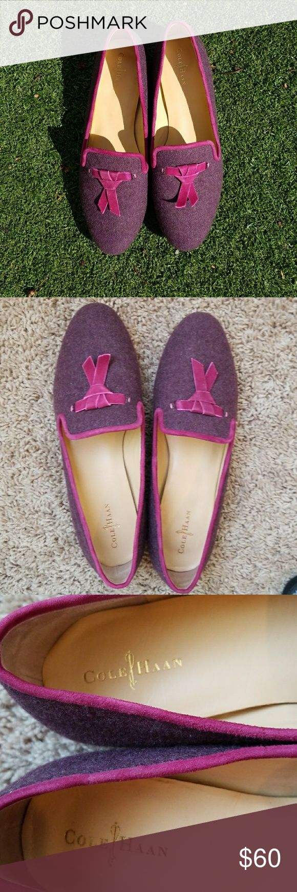 Cole Haan Nike Air Max Ballet Slippers Adorable with velvet tassel. Excellent condition. Some sole wear. Cole Haan Shoes Flats & Loafers